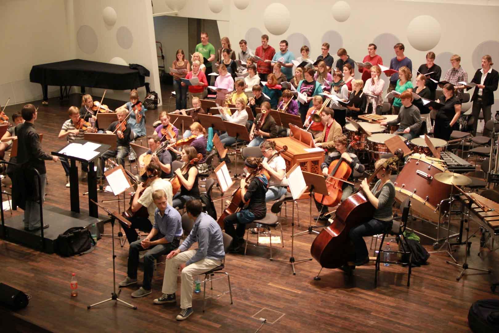 Proben für Ensemble Deutschland